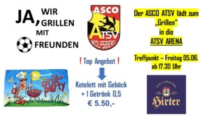 Grillparty in der ATSV Arena